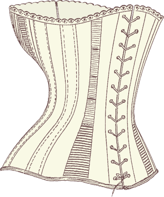 Laces clipart corset lace. Tightlacing the extreme practice