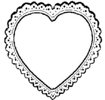 Laces clipart heart. Lace clip art library