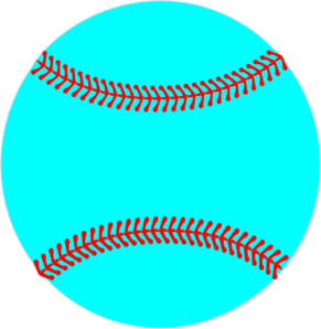 Laces clipart line. Teal baseball red lacing