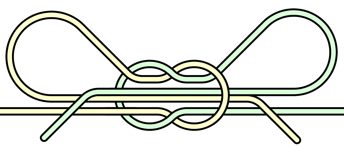 Shoelace knot wikipedia . Drawing knots bow vector library stock