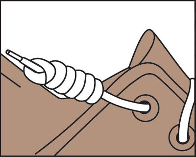 Laces clipart knot. Just the tips how