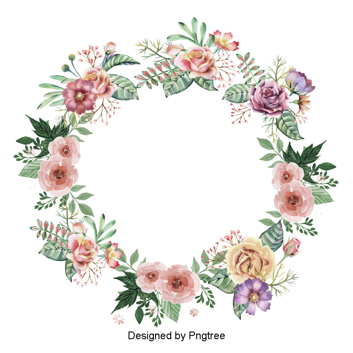 Vector flower design png. Wreath images download resources