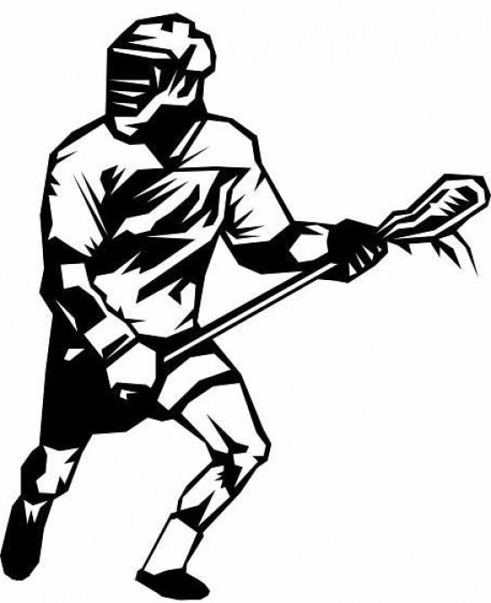 Lacrosse clipart. Free player shooting graphic
