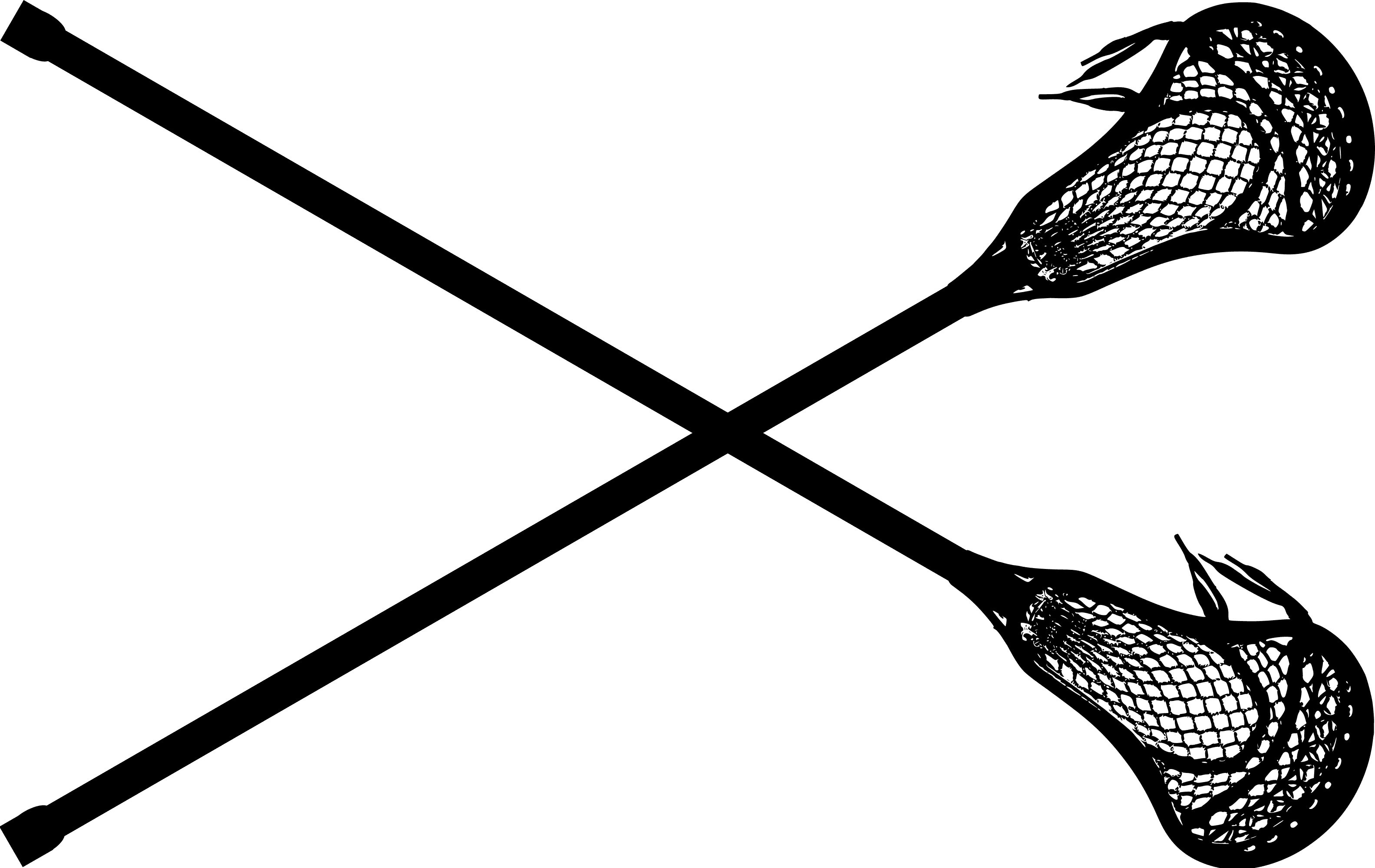 Lacrosse sticks hockey women. Stick clipart image black and white download