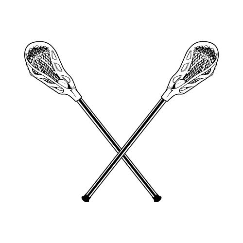 lacrosse clipart two