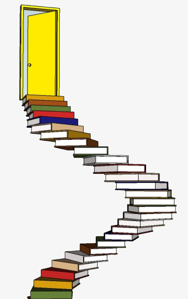 Ladder clipart book. Simple color books learn