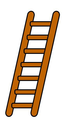 Ladder clipart long object. Best ladders images