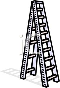 Ladder clipart long object. A tall picture