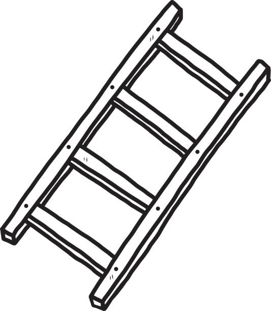 Ladder clipart outline. Line drawing at getdrawings