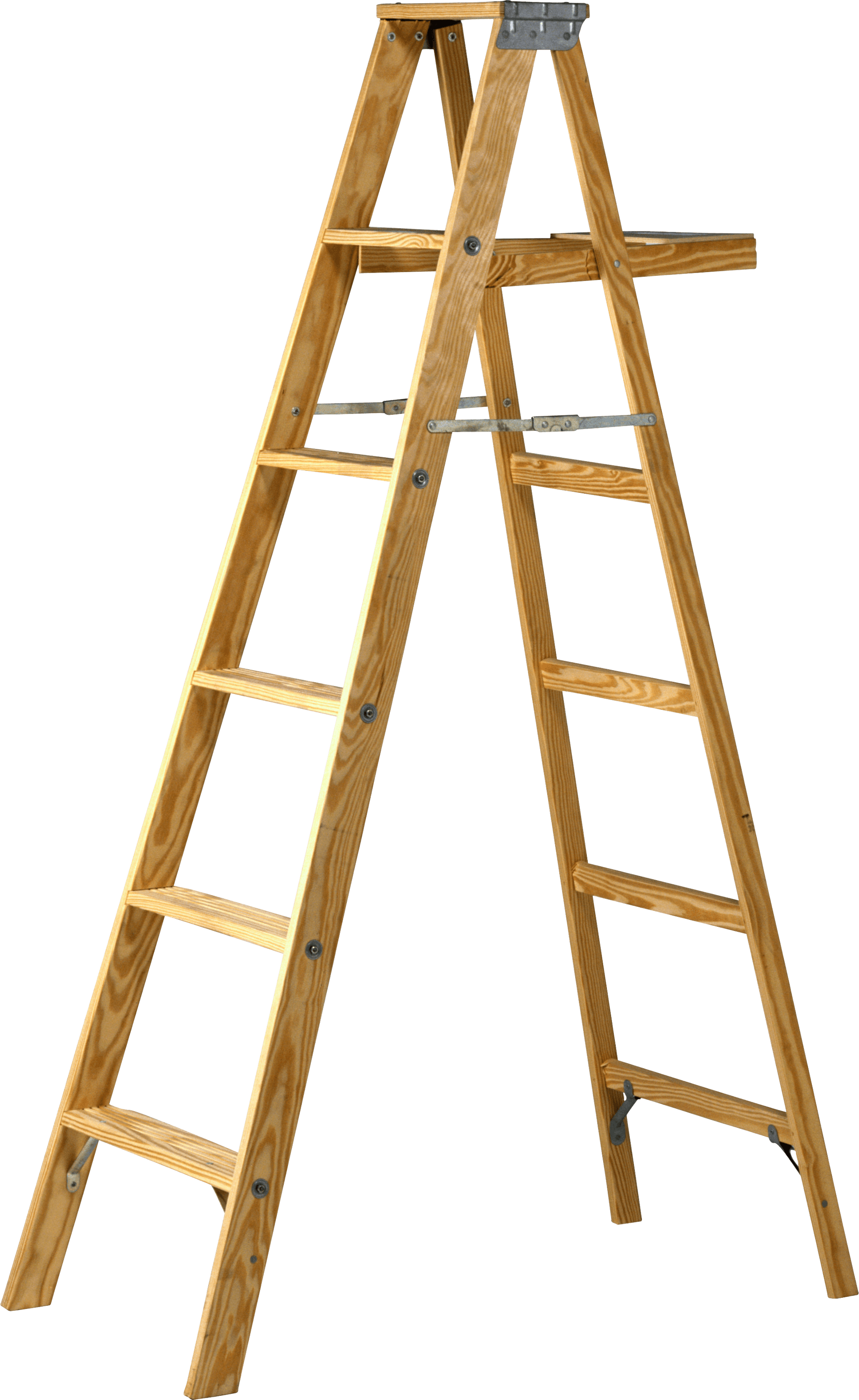 Ladder png. Double wood transparent stickpng