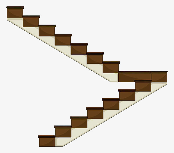 Ladder clipart staircase. The turning cartoon stairs