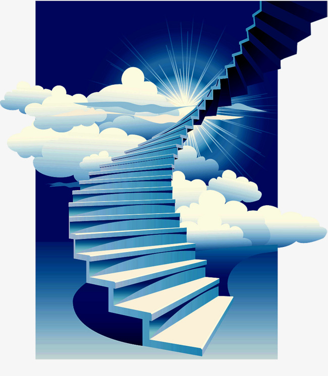 Ladder clipart staircase. Decorative illustration stairs the