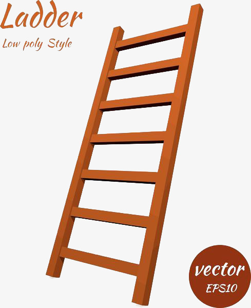 Ladder clipart staircase. Solid cartoon stairs png