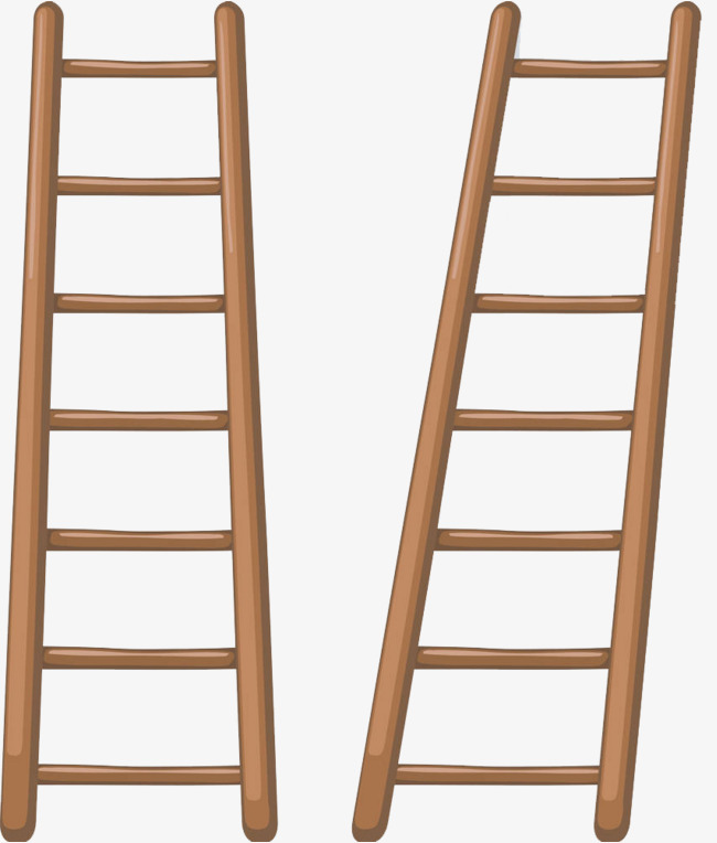 Ladder clipart staircase. Wooden ladders cartoon