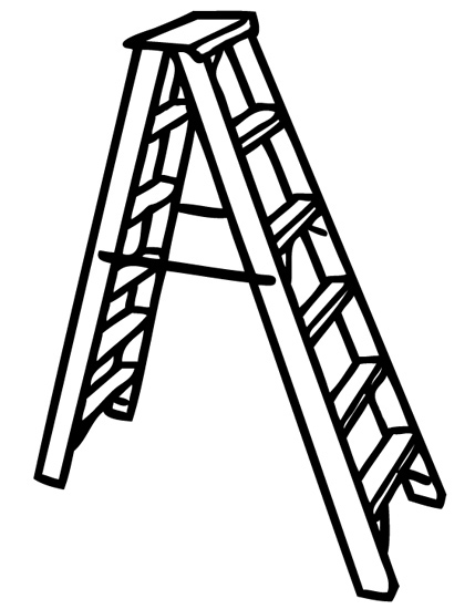 Ladder clipart step ladder. Line drawing at getdrawings