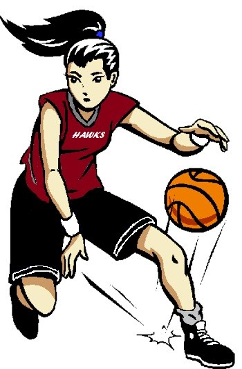 Lady clipart basketball player. Team at getdrawings com