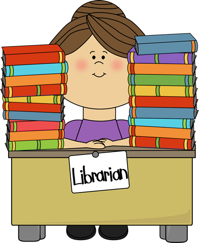 librarian clipart book rack