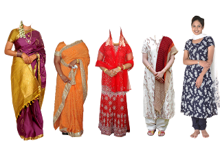 Lady clipart saree. All psd for photoshop