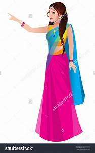 Lady clipart saree. Indian bridal pencil and