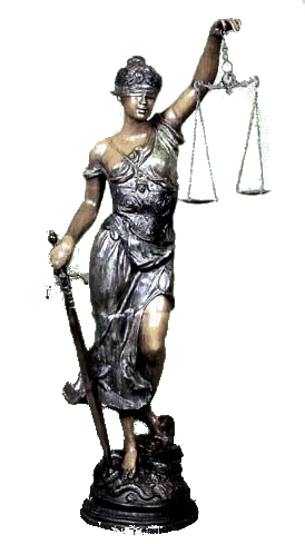 Lady justice statue png. With scale tattoo blind