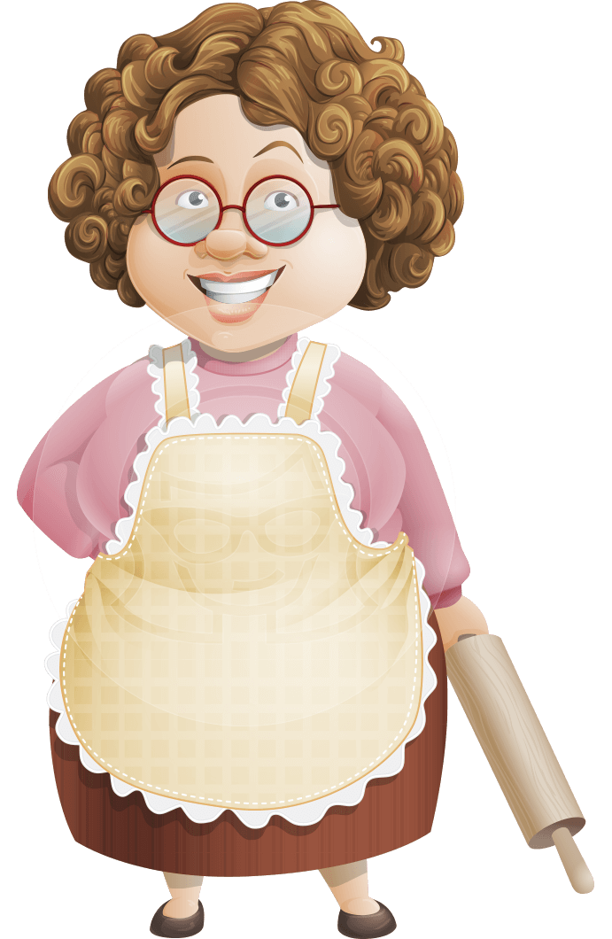 Granny five course meal. Sugar vector brown vector library