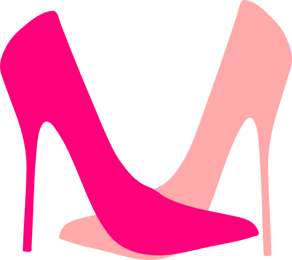 Lady vector pink. Sneakers clipart library