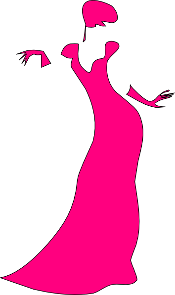 Pink dancing lady clip. Woman clipart mannequin clip royalty free library