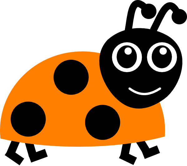 Ladybug clipart 10 orange. Pencil and in color