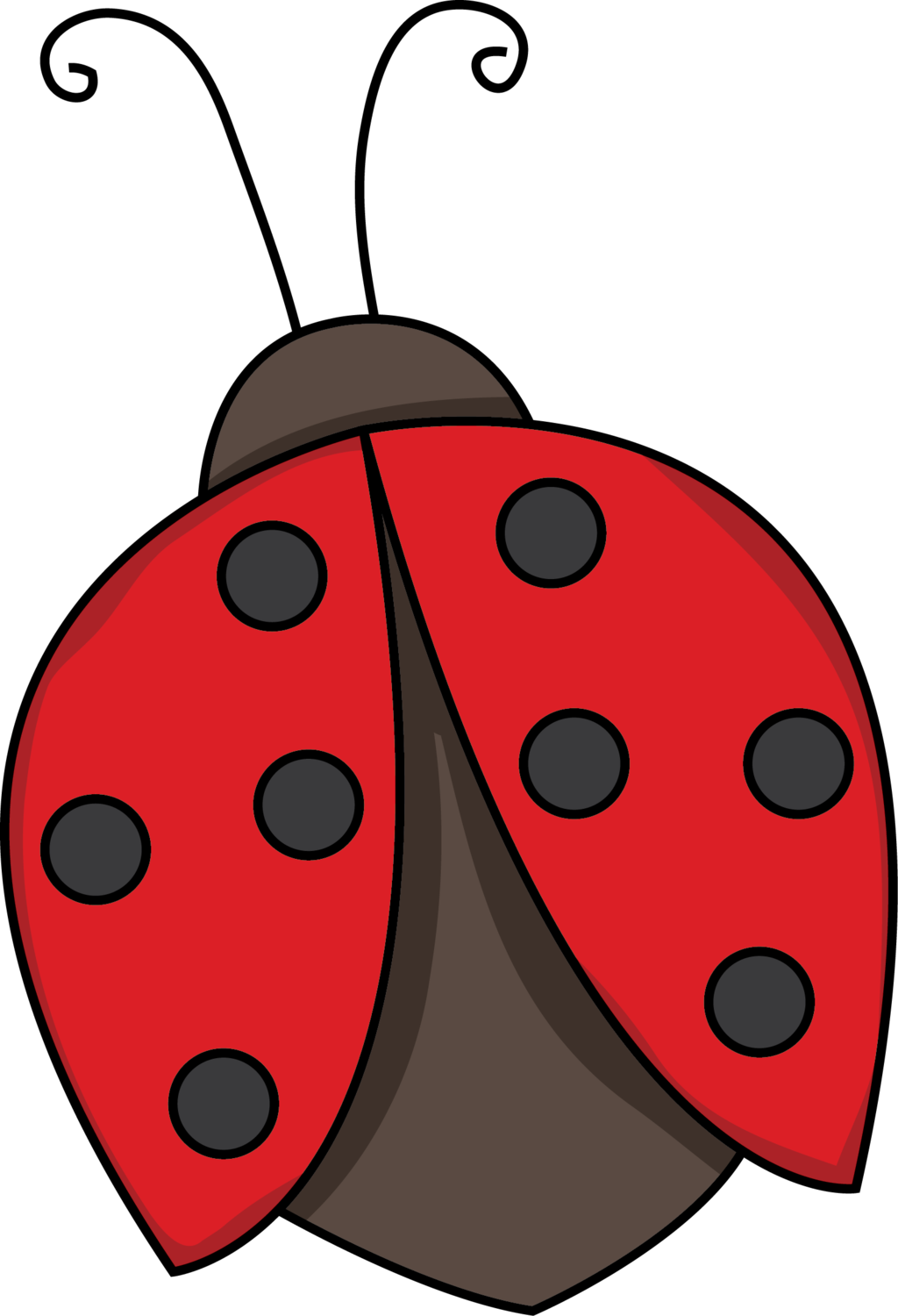 Ladybug clipart png. Flying black and white