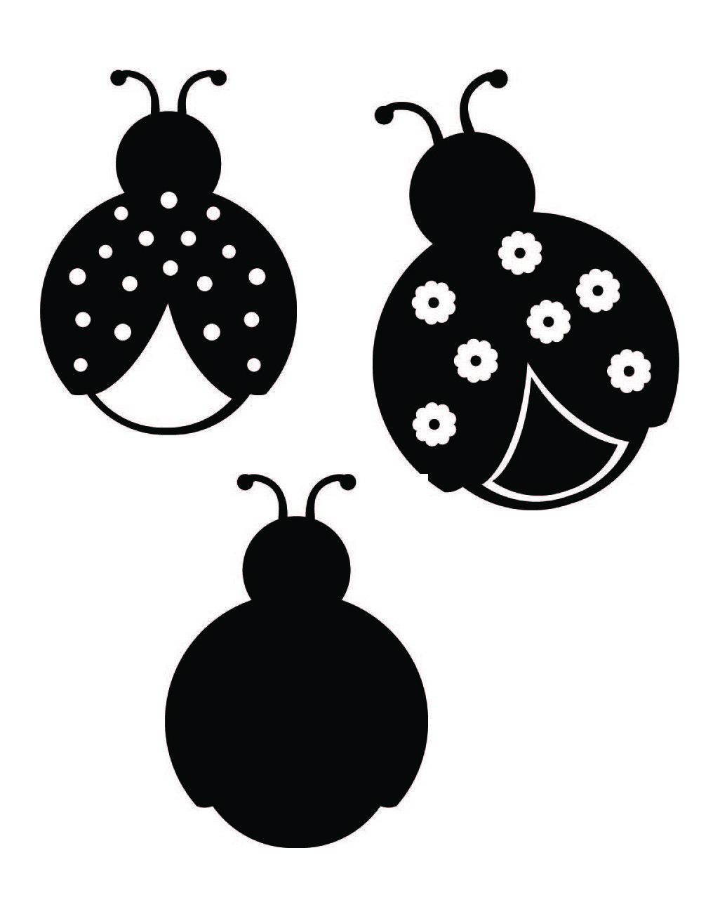 Ladybug clipart silhouette. Free svg files of