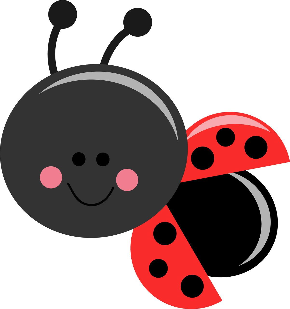 Ladybug clipart silhouette. Graphics cute images free