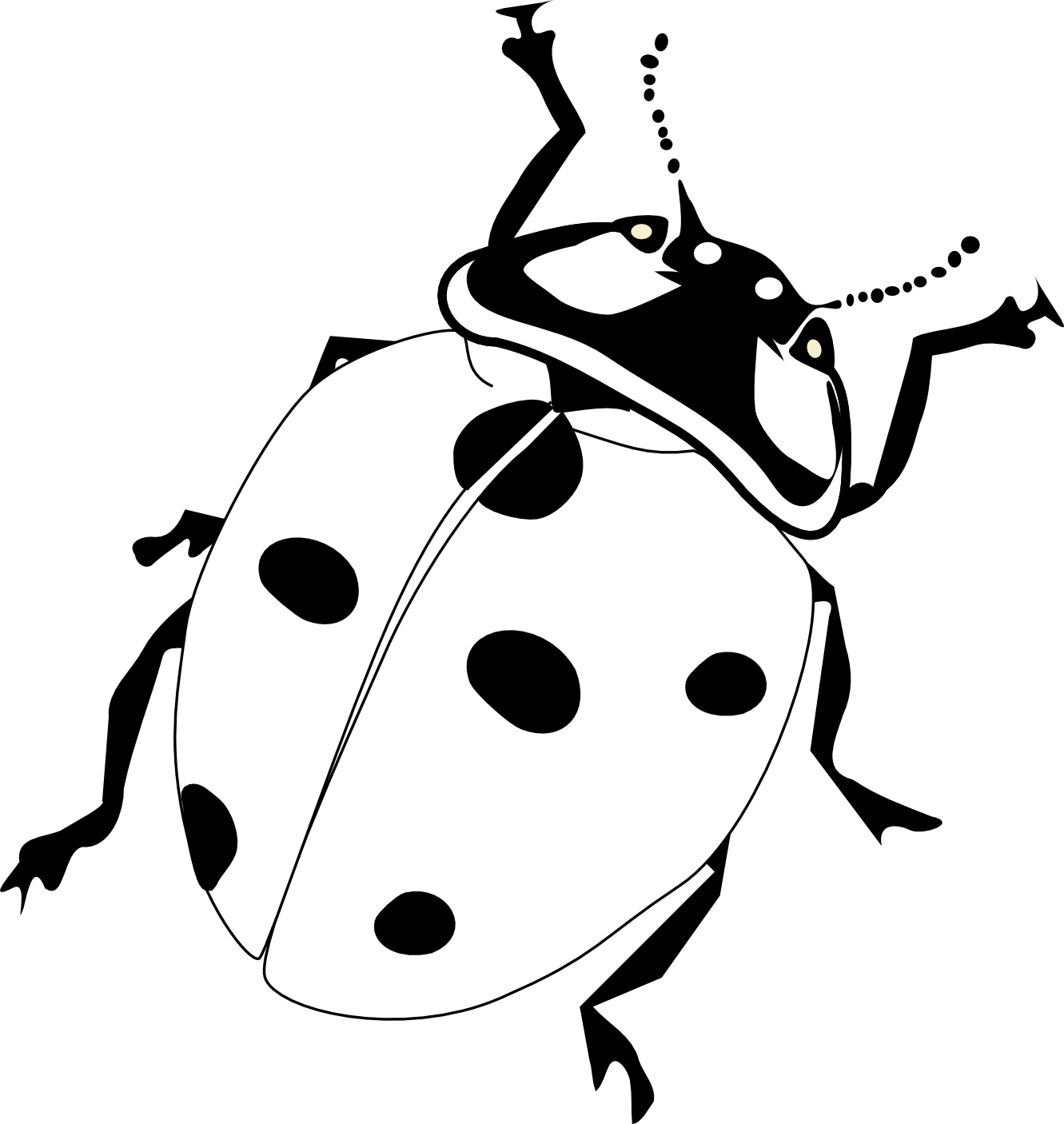 vector ant black and white