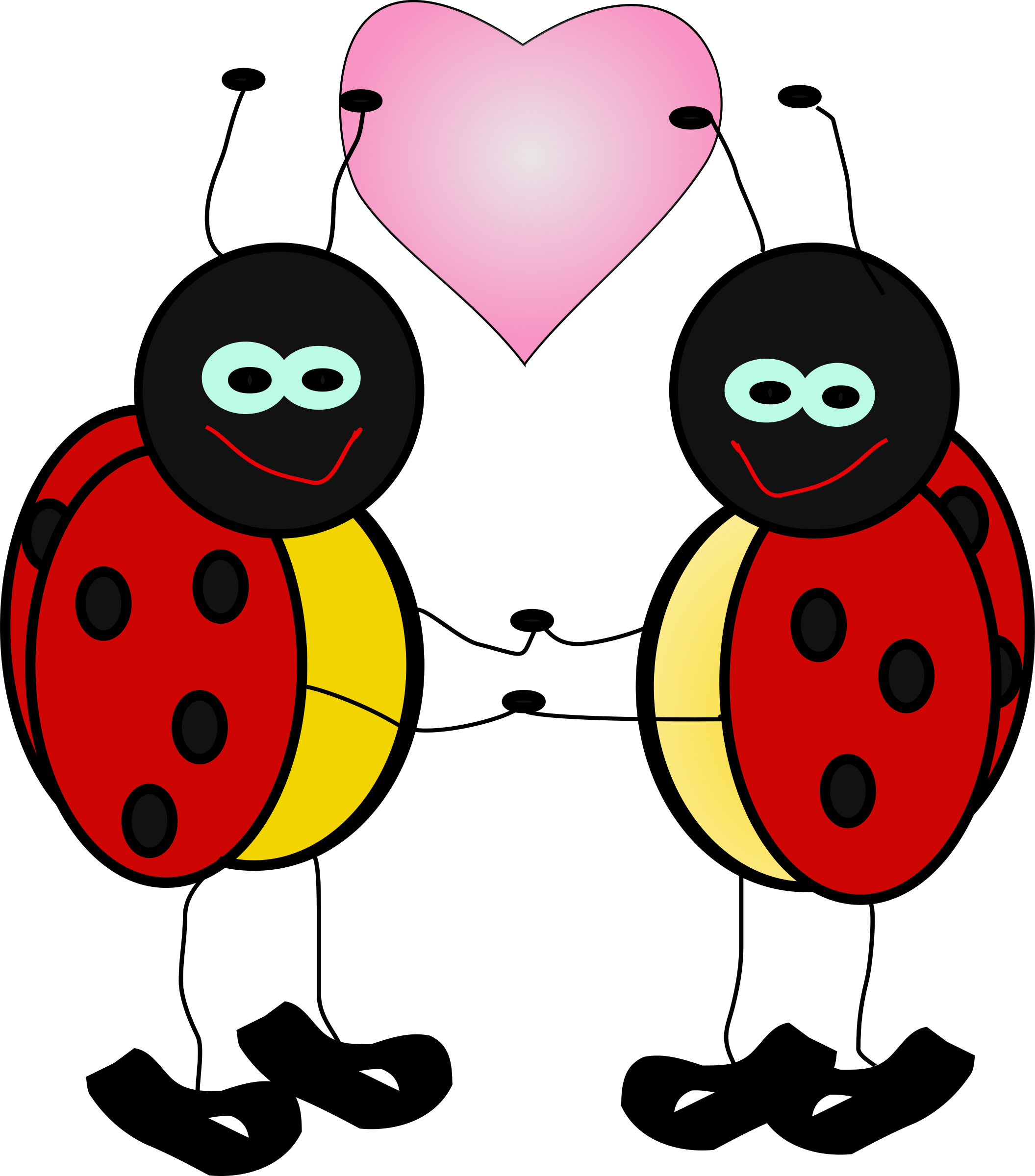 Bugs clipart. Lady big image png