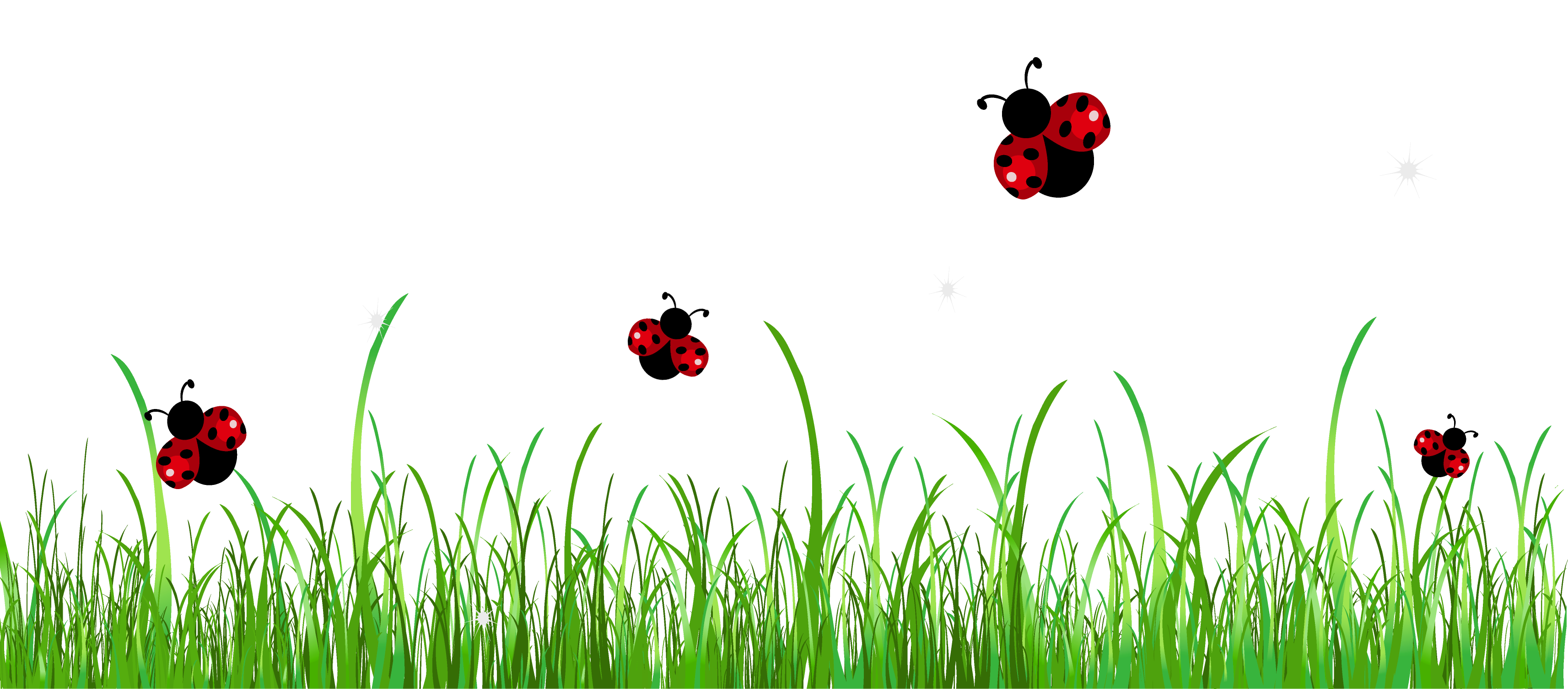 Ladybugs clipart glitter. Grass with png picture