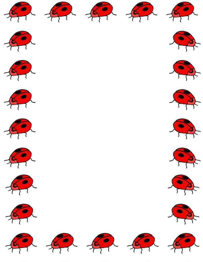 Ladybugs clipart simple. Ladybug printable mike folkerth
