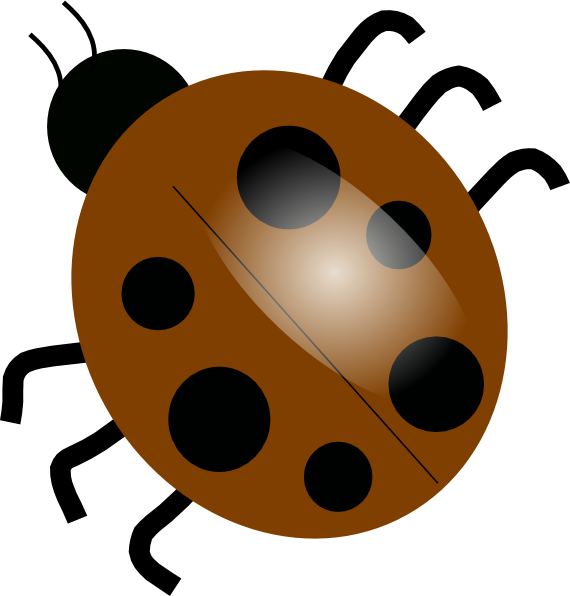 Ladybugs clipart yellow ladybug. Brown clip art at