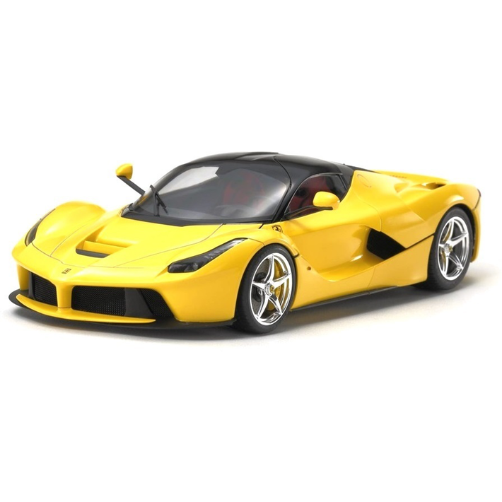 Laferrari drawing supercar. Tamiya ferrari yellow