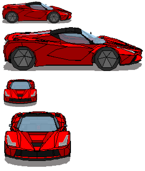 Laferrari drawing car ferrari. Pixel art by monotonous