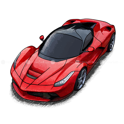 Laferrari drawing car. Ferrari fxx k transprent