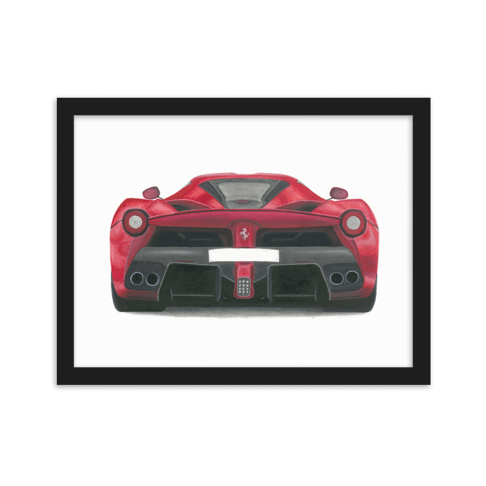 Laferrari drawing supercar. Ferrari by anatole bourne