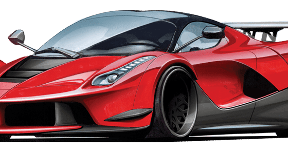 Laferrari drawing line. How to draw exotic