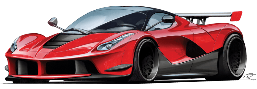 Laferrari drawing. How to draw cars