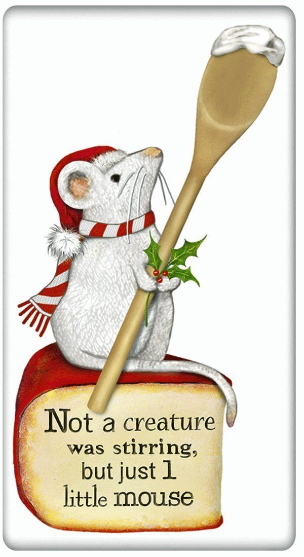 Lake clipart mouse. Christmas cotton flour sack