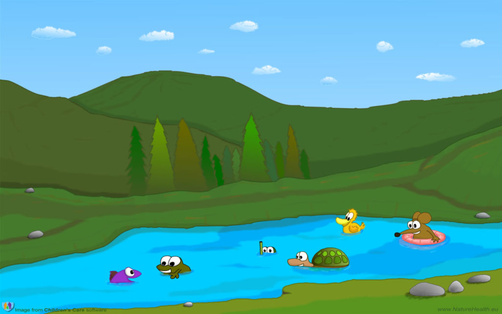 Lake clipart mouse. Free cartoon wallpaper for