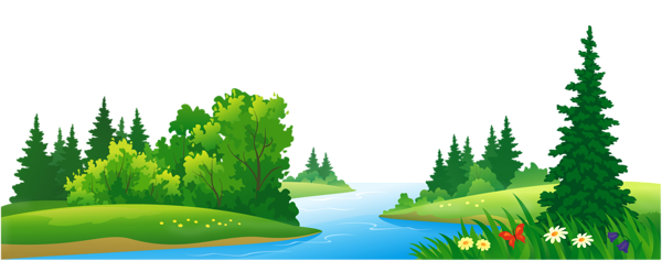 Grass lake and trees. Forest clipart beautiful forest jpg black and white