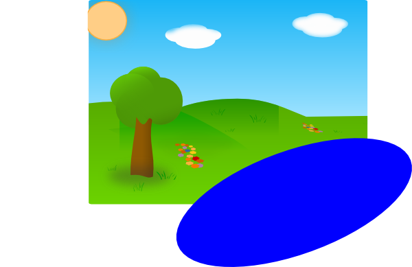 Lake clipart sunny. Day with just panda