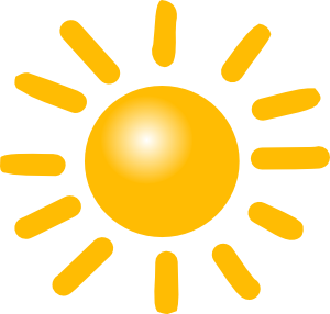 Vector lake sunny day. Clipart image group weather