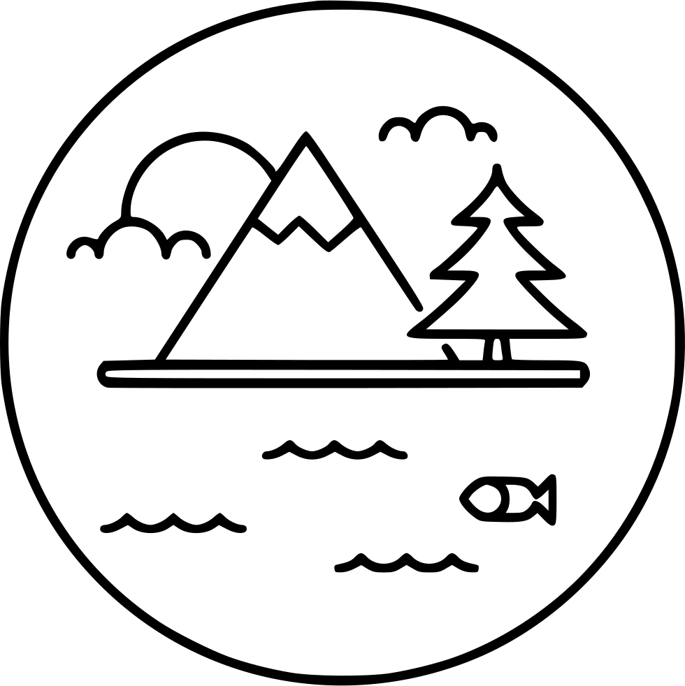 Lake drawing png