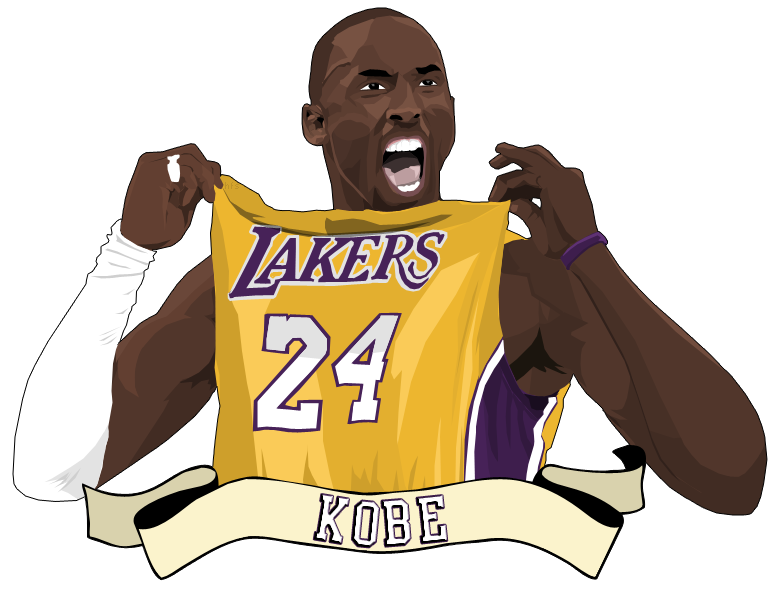 Nba clip kobe bryant. Collection of drawing
