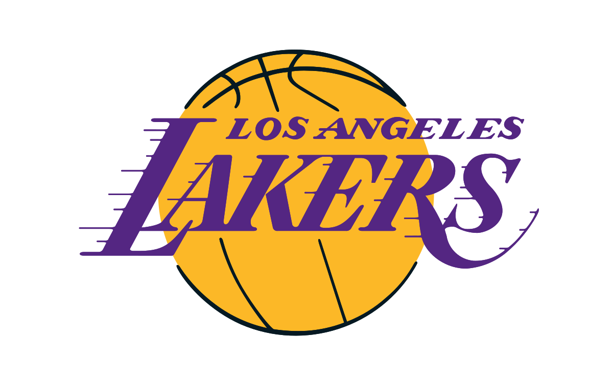 Lakers drawing font. Los angeles logo symbol